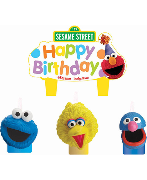Sesame Street Cake Topper Candle