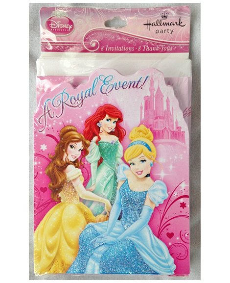 Disney Princess Sparkle Invitations and Thank You Combo