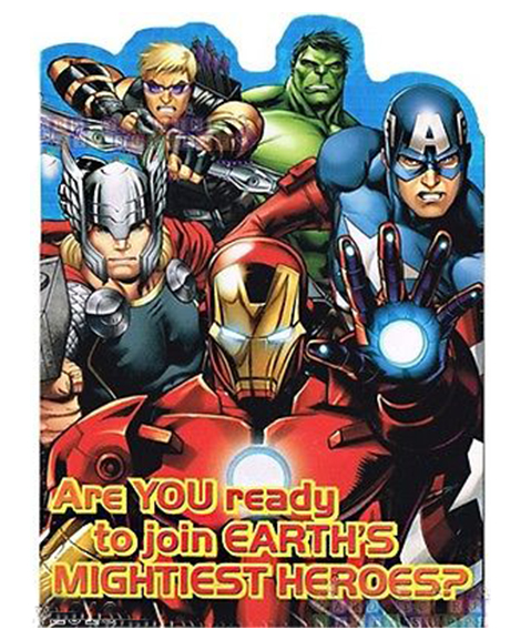 Avengers Assemble Invitations & Thank You Postcards