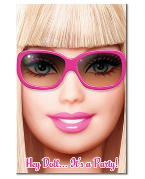 Barbie All Dolled Up Party Invitations