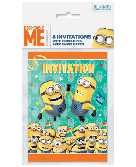 Despicable Me Minions Party Invitations