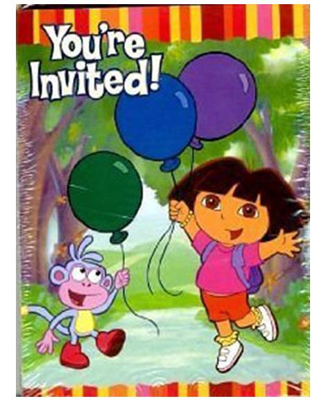 Dora Star Catcher Party Invitations