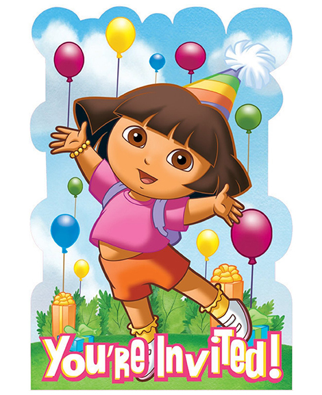 Dora and Friends Save The Date Invitations