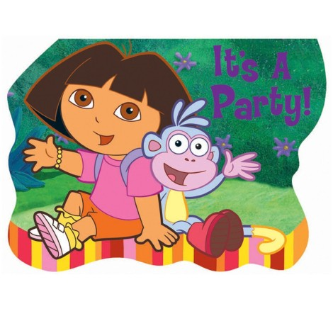 Dora and Friends It's A Party Invitations