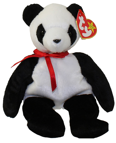 Ty Beanie Baby Fortune The Panda Bear Retired at Party Quackers 551bd32e74a3