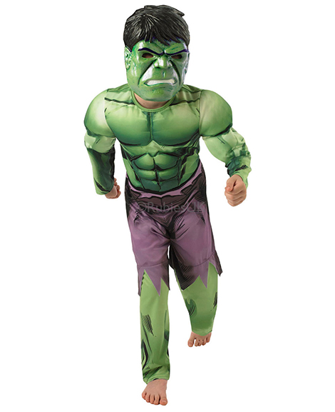 Avengers Assemble Hulk Deluxe Halloween Costume Size Small 4-6