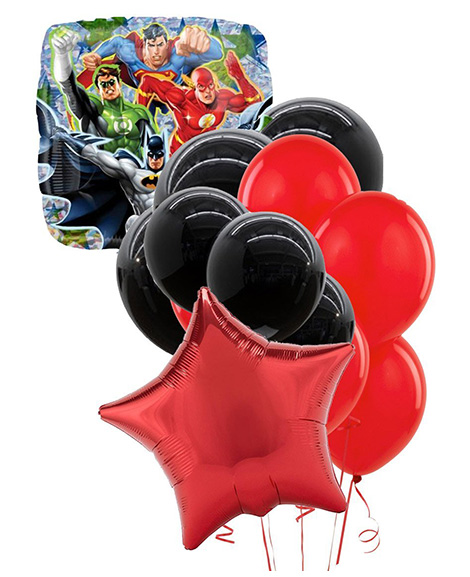 Justice league balloon package party quackers