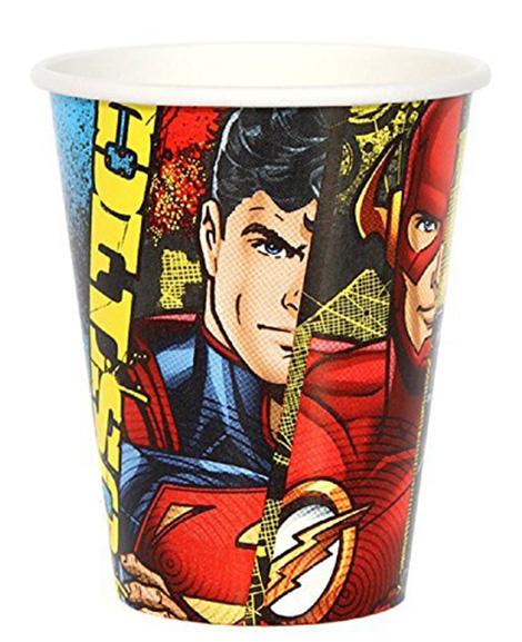 Justice League Amscan 9 oz Paper Cups