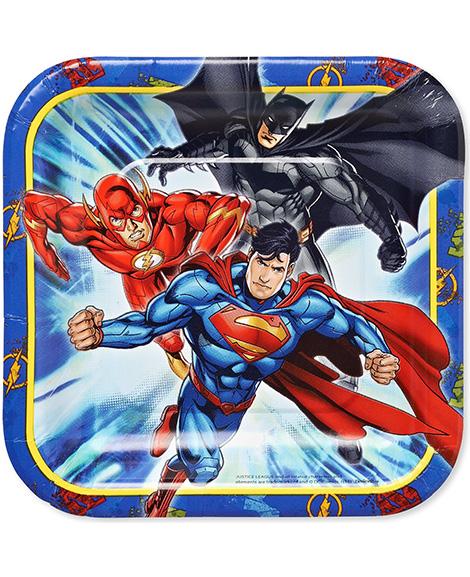 Justice League Dessert Plates