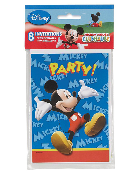 Mickey Clubhouse Unique Party Invitations