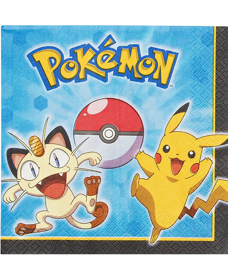 Pokemon Pikachu And Friends Lunch Napkins
