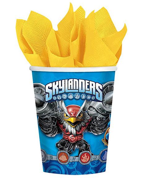 Skylanders Evergreen 9 oz Paper Cups 8 Ct