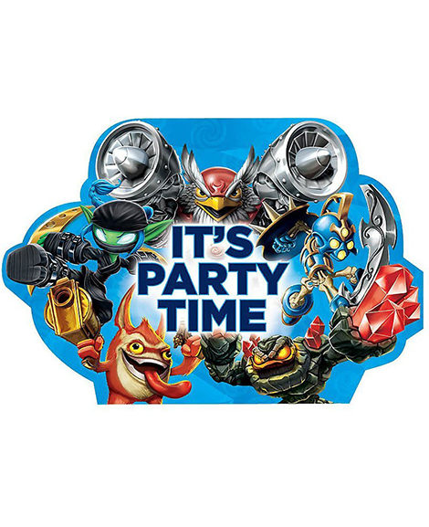 Skylanders Evergreen Save The Date Party Invitations