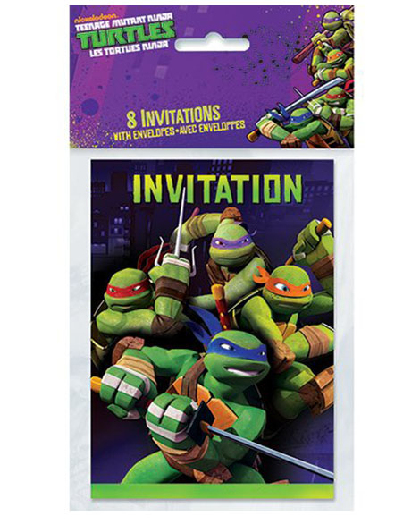 Teenage Mutant Ninja Turtles Unique Party Invitations Party Quackers