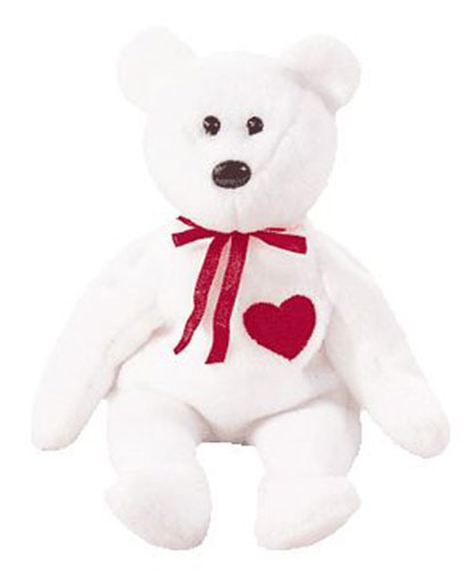 374dfd881e6 Retired Ty Beanie Baby Valentino The Bear at Party Quackers