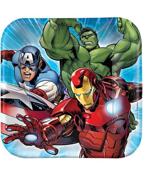 Avengers Assemble Marvel Dessert Plates