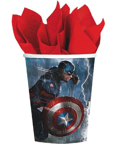 Captain America 3 Civil War 9 oz Paper Cups