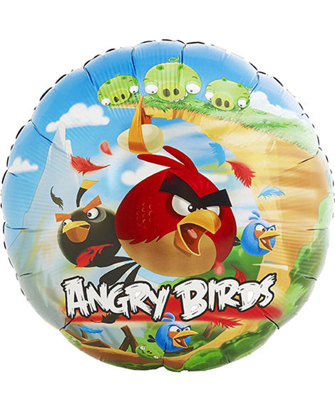 Angry Birds 18 Inch Round Foil Mylar Balloon