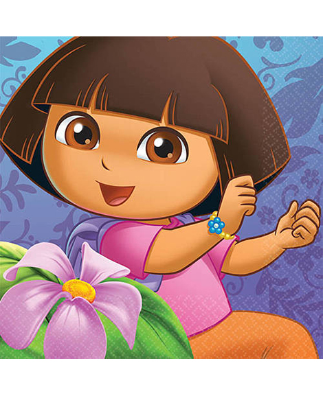 Dora Flower Adventure Beverage Napkins