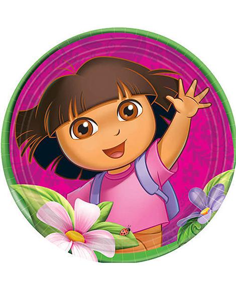 Dora Flower Adventure Lunch Plates