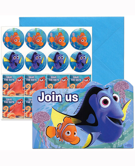 Finding Dory Party Save the Date Invitations