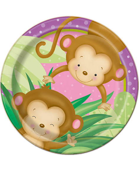 monkey girl baby shower 9 oz paper cups party quackers