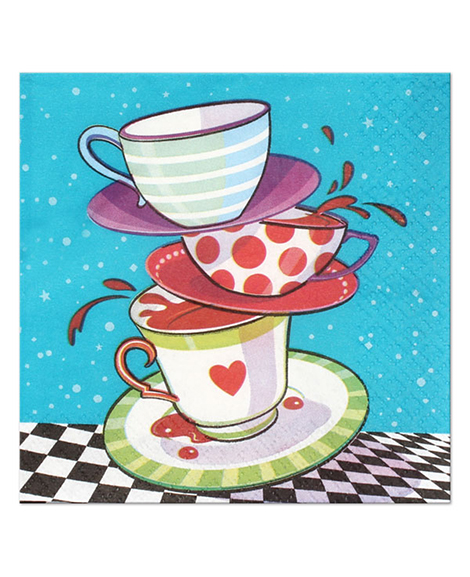 Mad Hatter Alice in Wonderland Tea Party Beverage Napkins