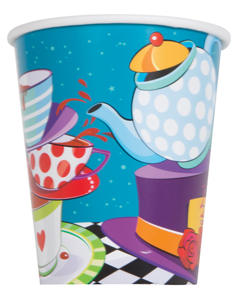 Mad Hatter Tea Party 9 oz Paper Cups
