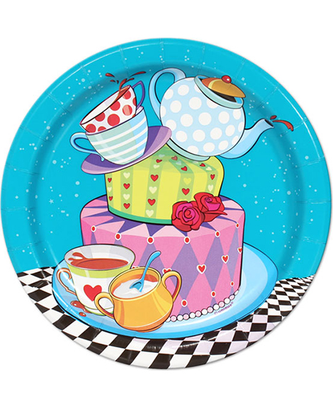 Mad Hatter Tea Party Dessert Plates