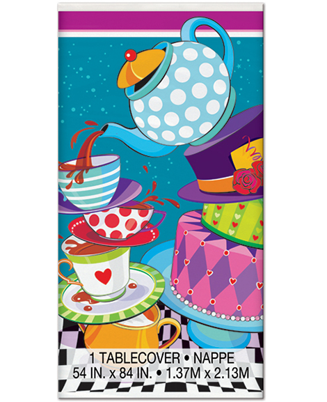 Mad Hatter Plastic Table Cover