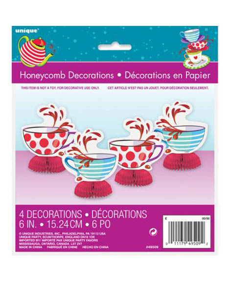 Mad Hatter Tea Party Mini 4 Piece Centerpiece Kit