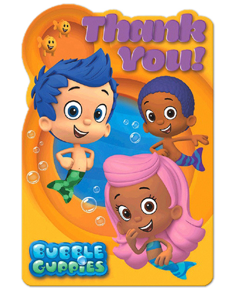 Bubble Guppies Seals Thank You Postcards