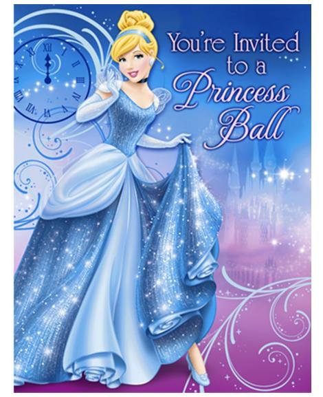 Cinderella Sparkle Party Invitations