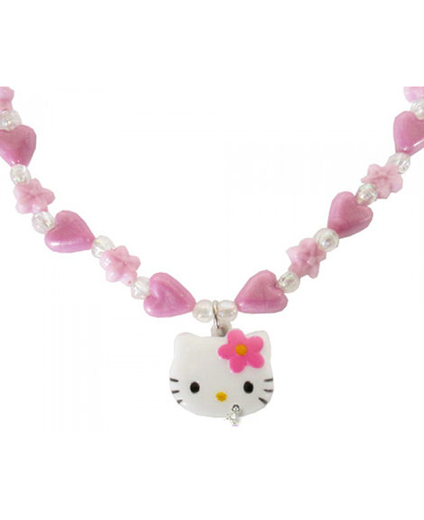 Hello Kitty Flower Party Favor Beaded Necklace