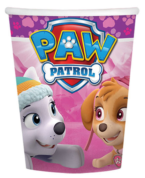 Paw Patrol Girls 9 oz Paper Cups