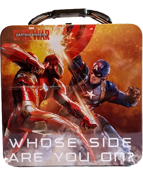 Captain America 3 Square Metal Tin Box Carry All