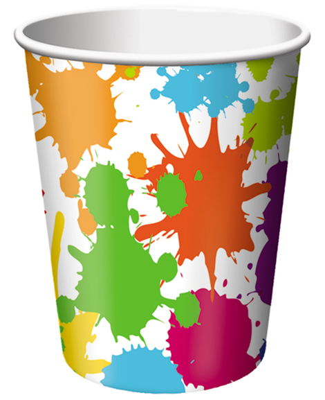 Art Party 9 oz Paper Cups