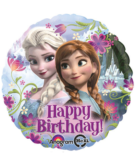 Disney Frozen Happy Birthday Round Foil Mylar Balloon