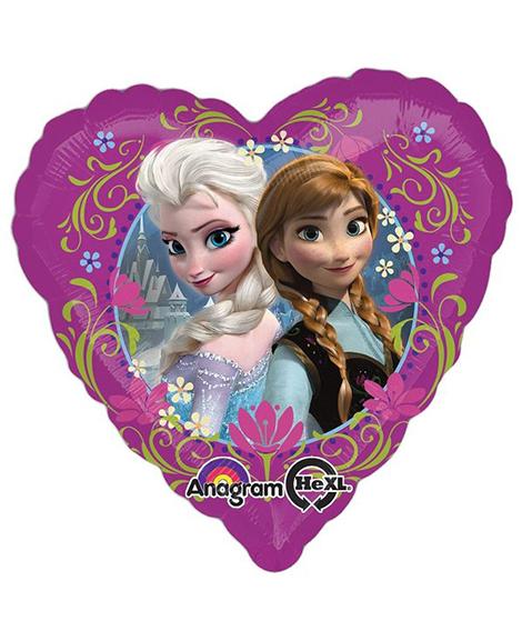 Disney Frozen Purple Heart Shaped Foil Mylar Balloon