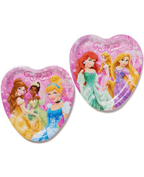 Disney Princess Dream Big Heart Shaped Lunch Plates