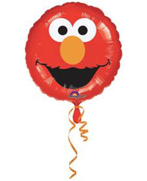 Elmo Smile 18 Inch Face Round Foil Mylar Balloon