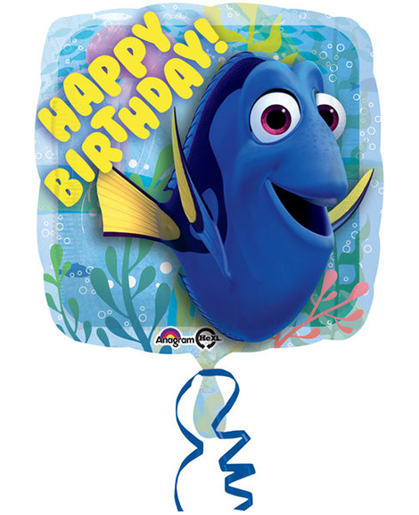 Finding Dory Happy Birthday 18 Inch Square Foil Mylar Balloon