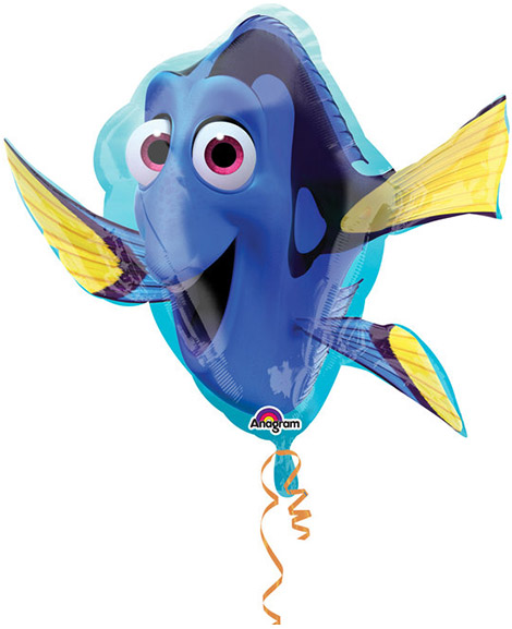 Finding Dory Super-Shaped 30 Inch Foil Mylar Balloon