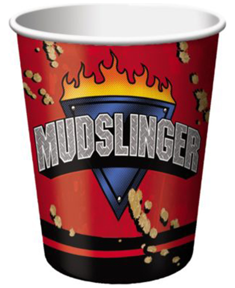 Mudslinger Monster Truck 9 oz Paper Cups