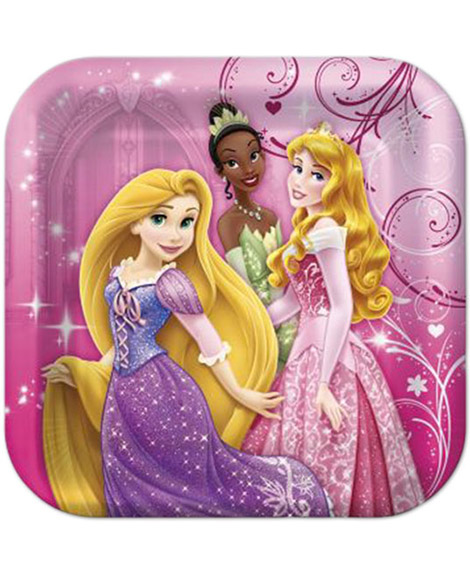 Disney Princess Sparkle Amscan Dessert Plates