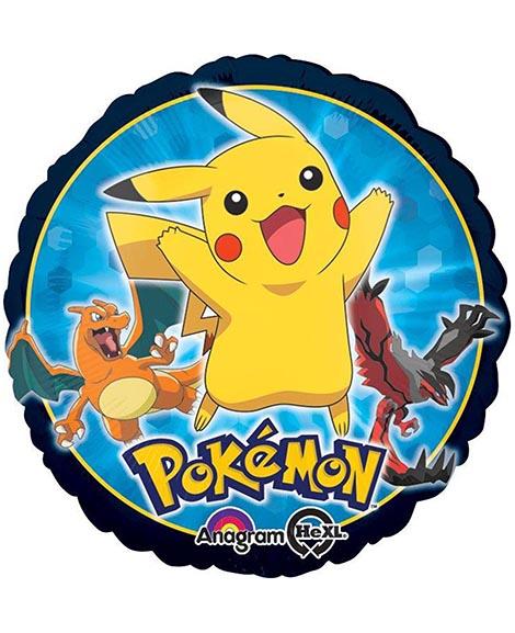 Pokemon 18 Inch Round Foil Mylar Balloon