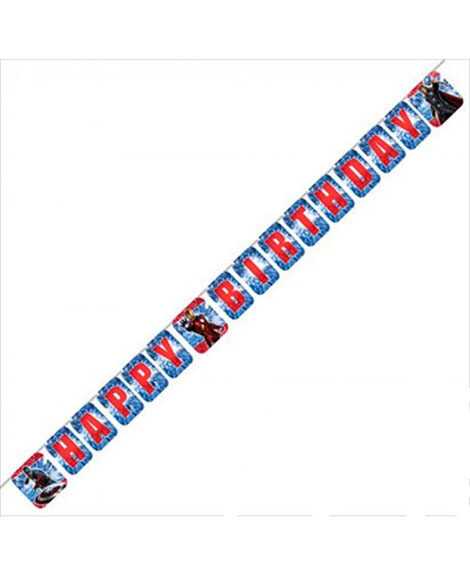 Avengers Happy Birthday 8 Foot Jointed Plastic Banner
