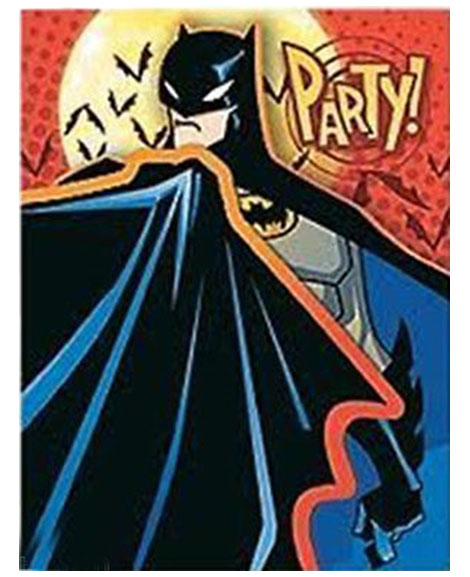 Batman Begins Party Invitations