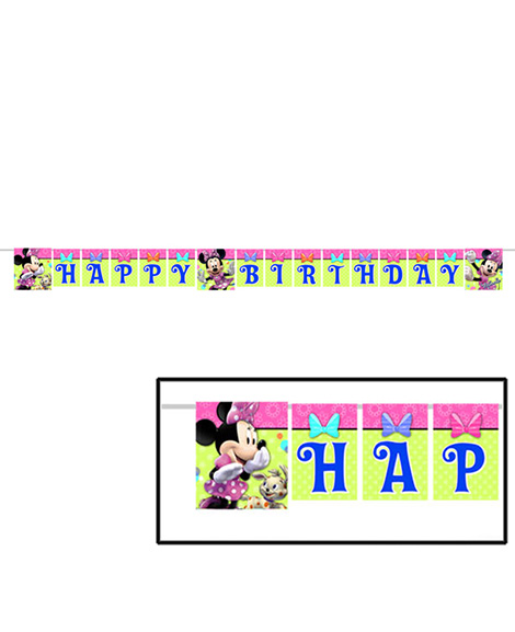 Minnie Mouse Bowtique 8 ft Jointed Plastic Banner