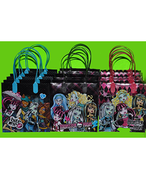 Monster High Assorted Plastic Gift Bags with Handles